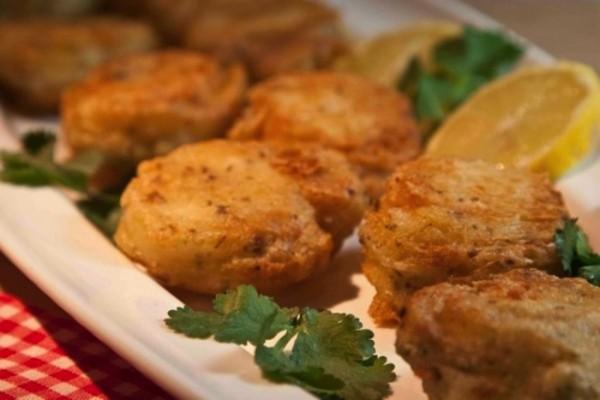 boukies bakaliarou se kourkouti tempura