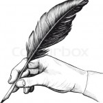 2035738-897702-vintage-drawing-of-hand-with-a-feather-pen-in-style-of-an-engraving