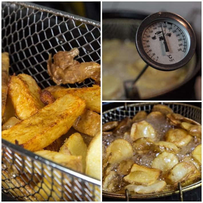 πατατες τηγανητές - το δευτερο τηγάνισμα