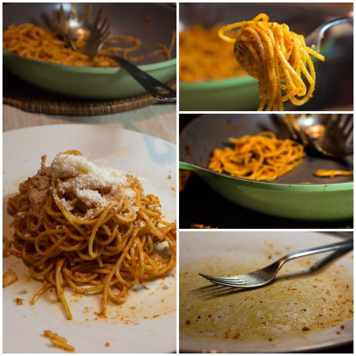spaghetini me domata kai curry