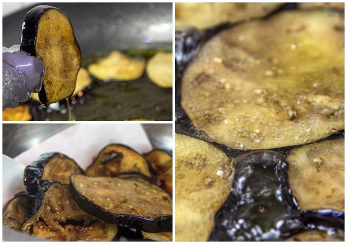 τηγάνισμα μελιτζάνας για μουσακά
