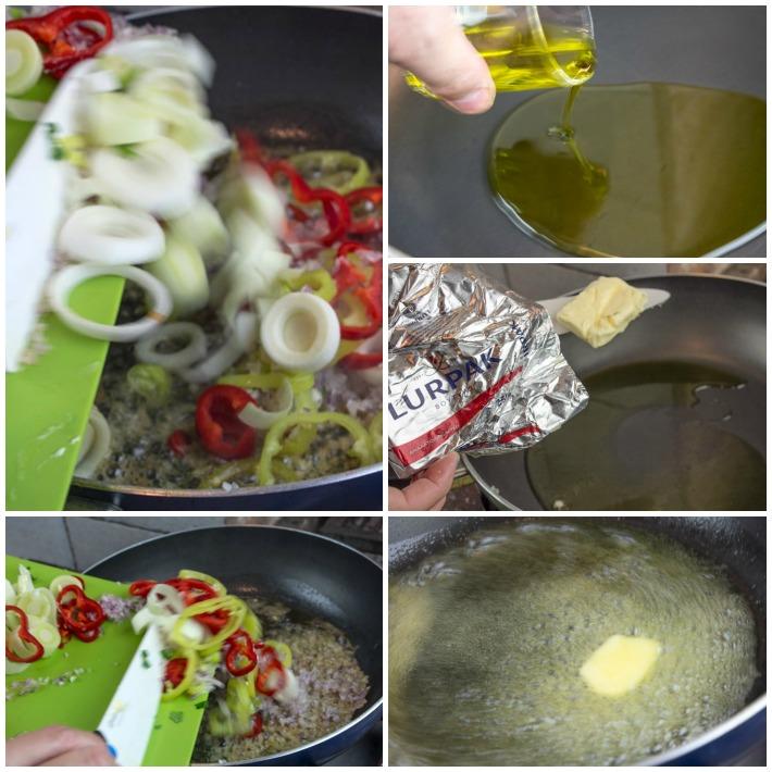 κριθαρότο γαριδας - σοφριτο λαχανικών