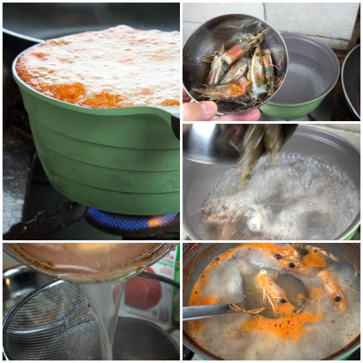 κριθαρότο γαριδας - ζωμός γαρίδας