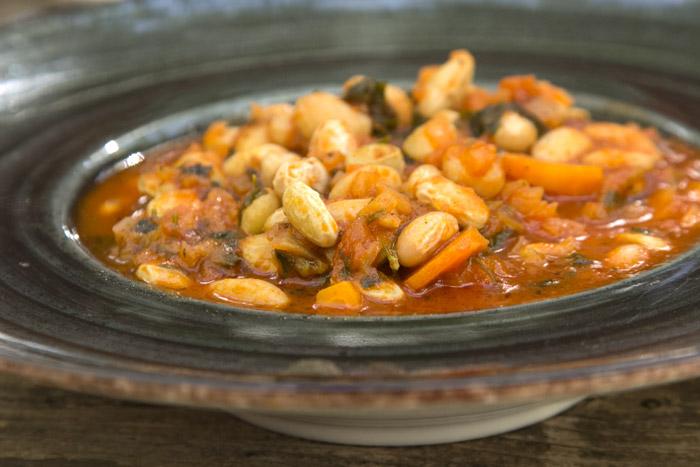 Φασόλια Χάντρες (μπαρμπούνια) Λαδερές