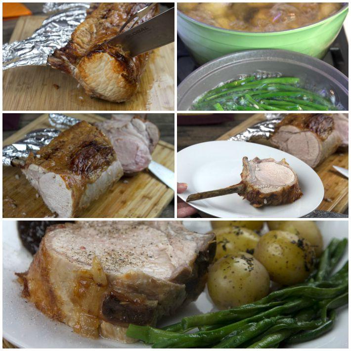 χοιρινή ράχη μπριζόλας φούρνου 4