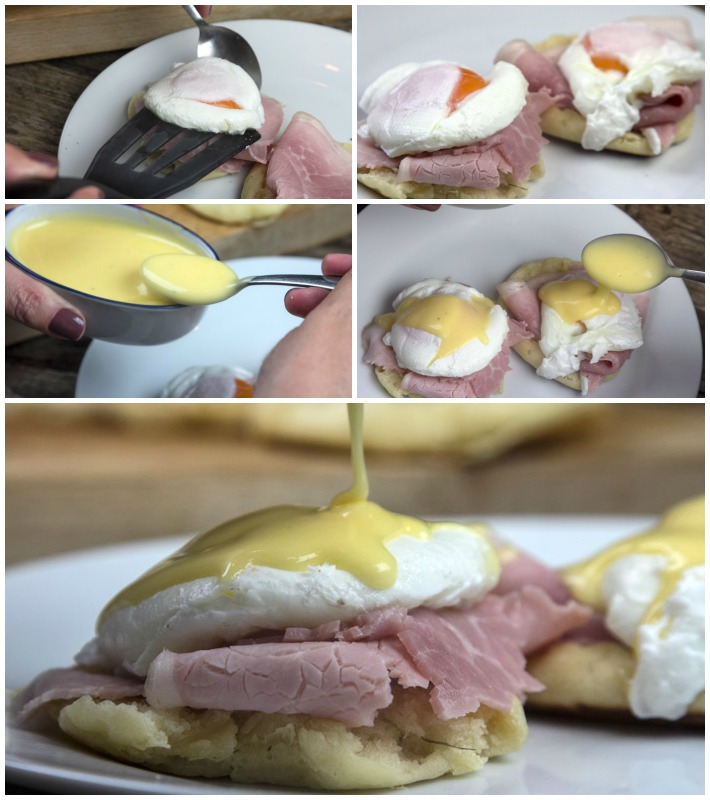 αυγά ποσέ - english muffins - sauce hollandaise