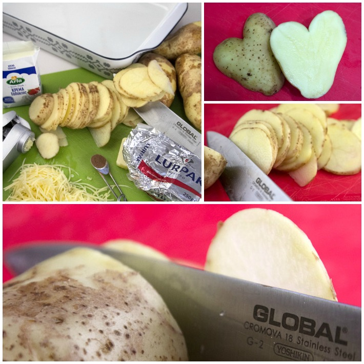 πατάτες ψητές στο φουρνο Γκρατέν Ντοφινουά 1