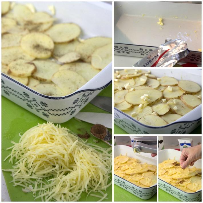 πατάτες ψητές στο φουρνο Γκρατέν Ντοφινουά 2