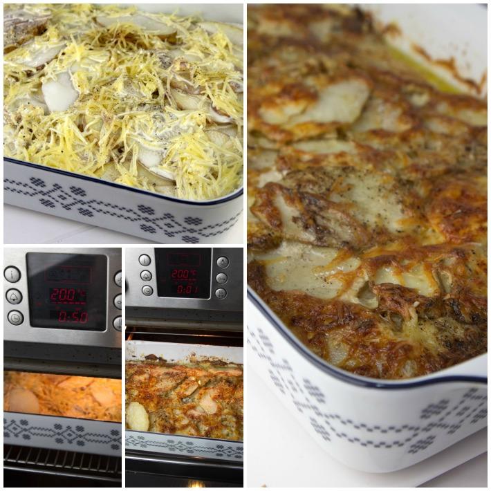 πατάτες ψητές στο φουρνο Γκρατέν Ντοφινουά 4