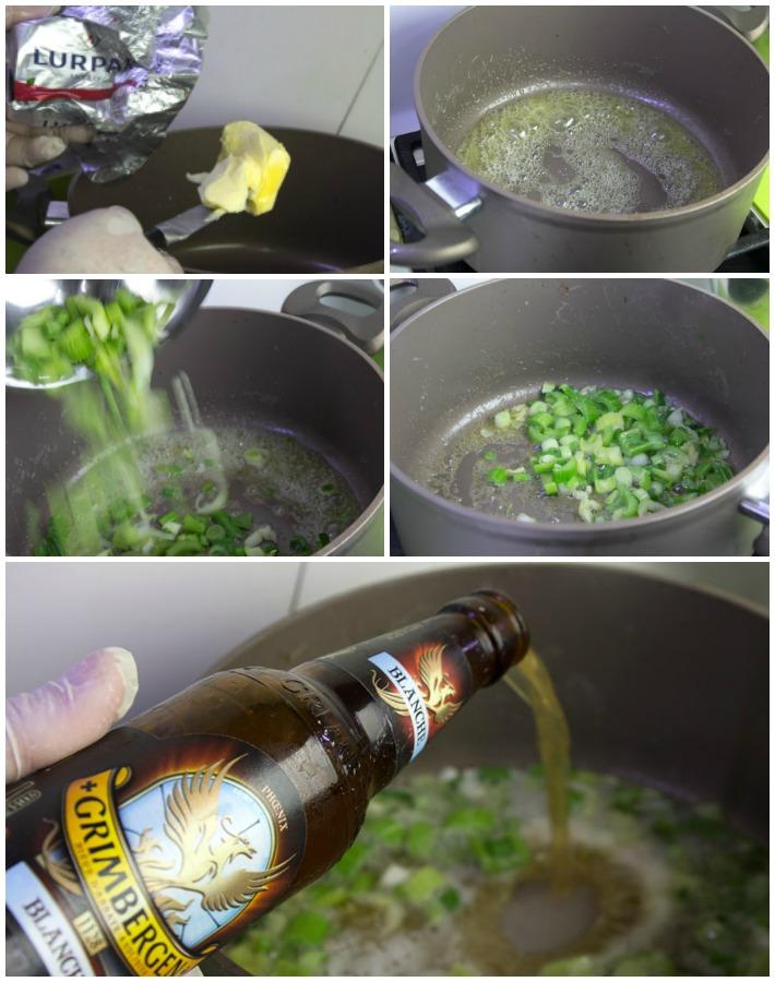 μυδια αχνιστά μαρινιέρ με μπύρα