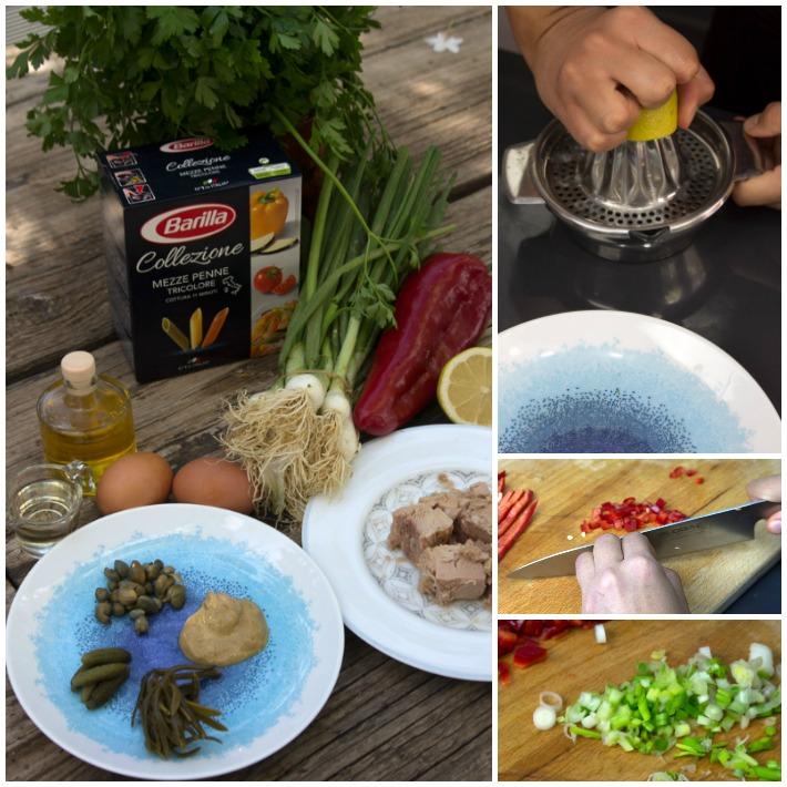 σαλάτα τόνου μακαρόνια μαγιονέζα