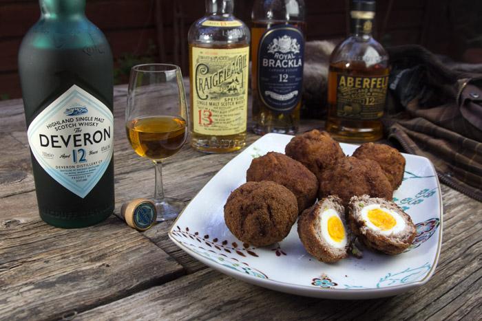 Scotch Eggs & 4 Single Malt Whiskies
