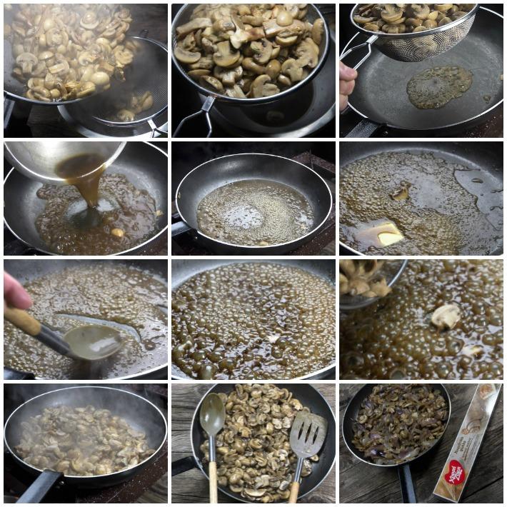 Μανιταρόπιτα σε φύλλο ολικής - η γέμιση - μανιτάρια
