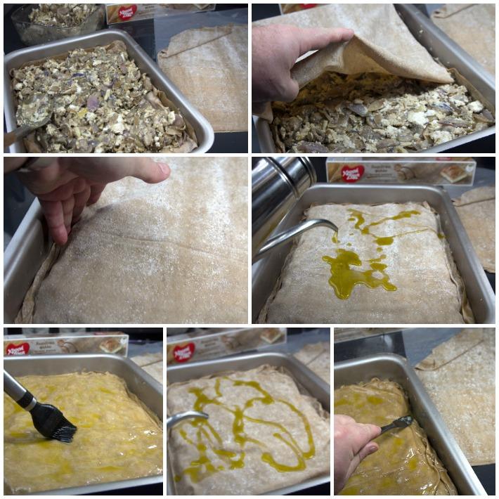 Μανιταρόπιτα σε φύλλο ολικής - πως φτιάχνουμε την πίτα
