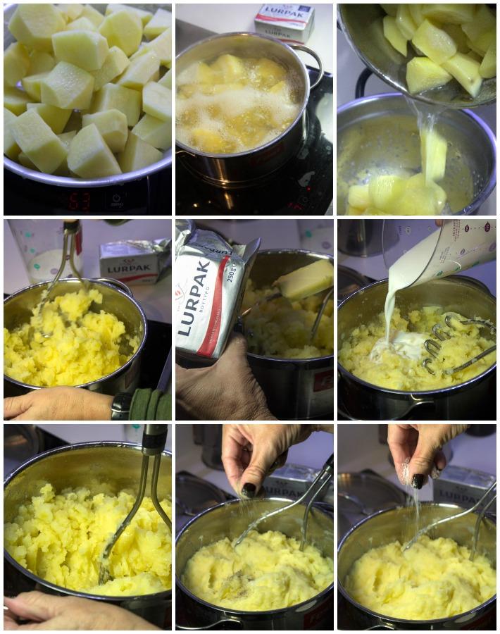 πουρές mashed potatoes - σουτζουκάκια