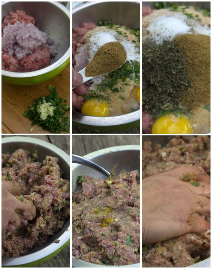 σουτζουκάκια σμυρνέϊκα με μικτό κιμά 3 κρεάτων