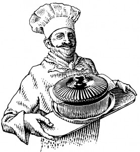 Chef With Covered Dish