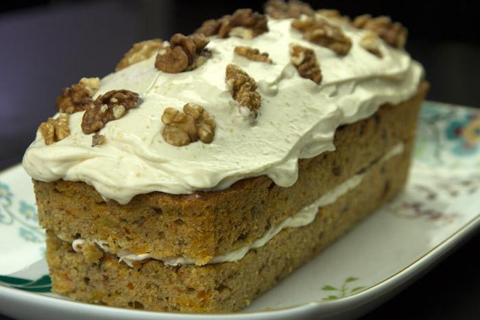 Κάροτ κέικ με φρόστινγκ τυριού κρέμας
