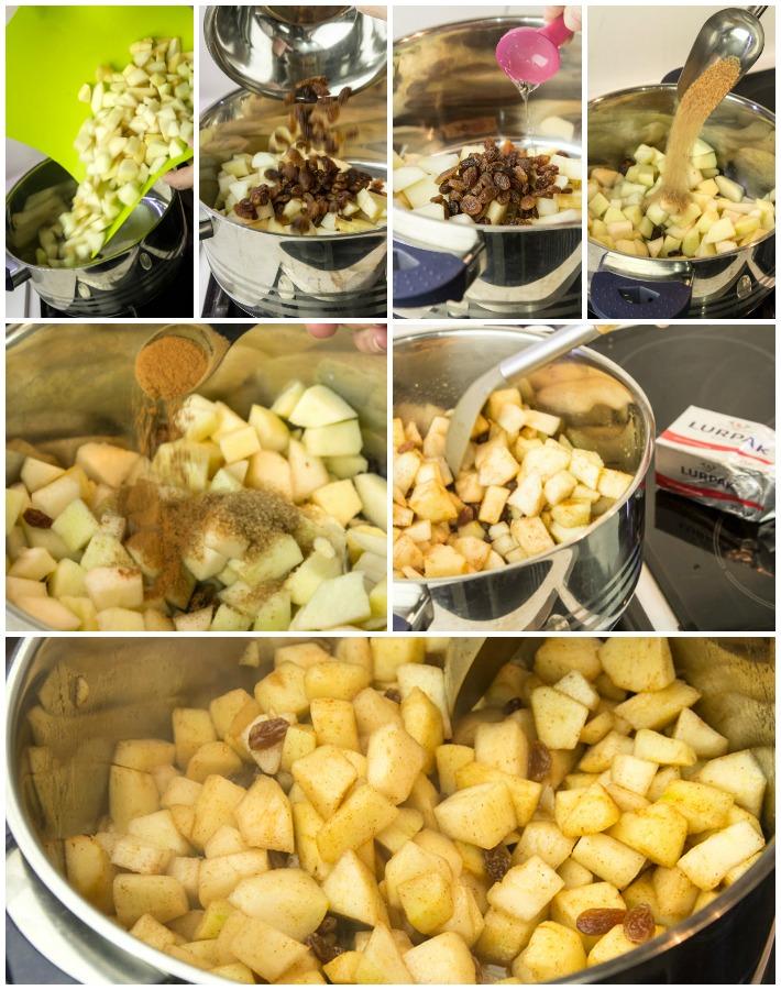 εύκολη μηλόπιτα απλ κράμπλ