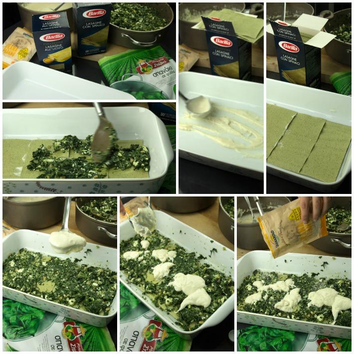 Λαζάνια σπανάκι ανθότυρο μπεσαμέλ 2