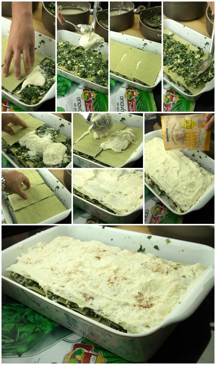 Λαζάνια σπανάκι ανθότυρο μπεσαμέλ 3