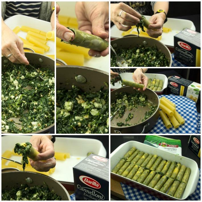 Κανελόνια με σπανάκι ρικότα & σάλτσα ντομάτας