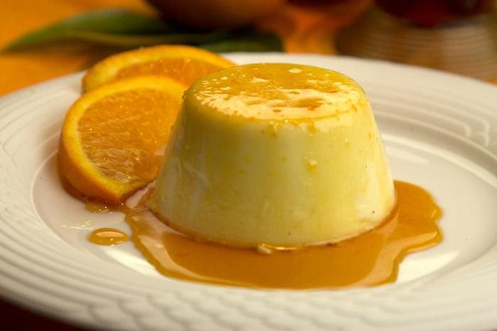 πανακοτα πορτοκάλι