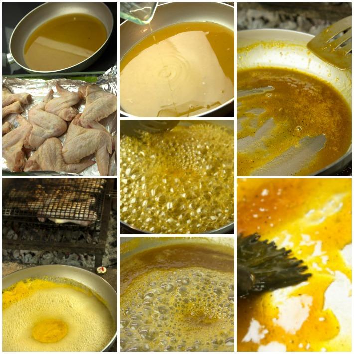 κοτόπουλο σχάρας ψητό με γλάσο μέλι πορτοκάλι