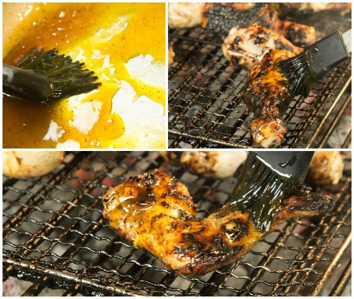 φτερούγες και μπουτακια κοτόπουλου ψητά με γλάσο μέλι πορτοκάλι