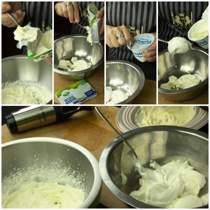 Τσιζκέικ με γιαουρρτι, λευκη σοκολάτα και σμέουρα
