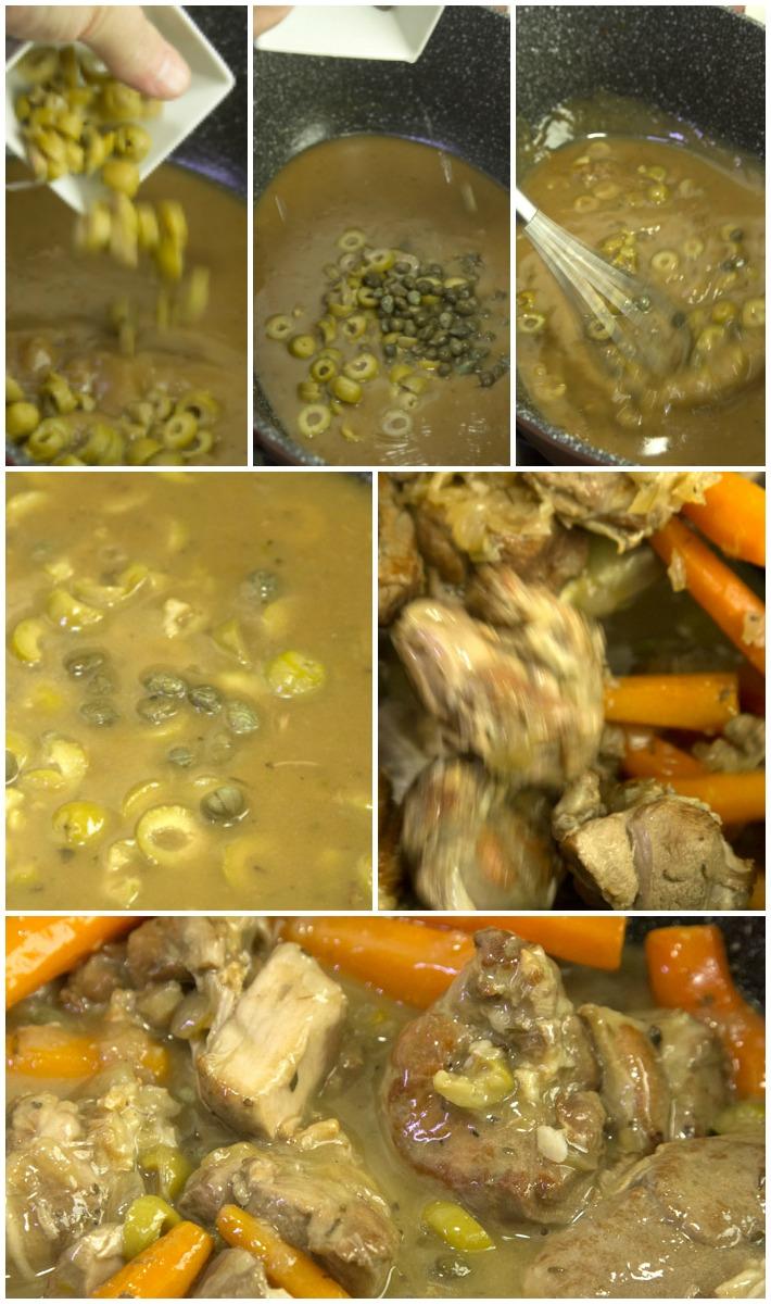 Κατσικάκι Μεσογειακό με λευκό κρασί, κάπαρη, ελιές & κοκκάρια
