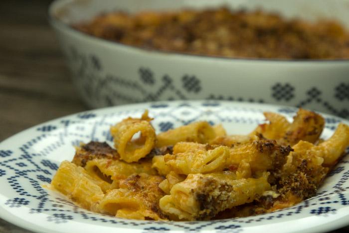 αυθεντική Ιταλική Μακαρονάδα φούρνου κρέμα-ντομάτα