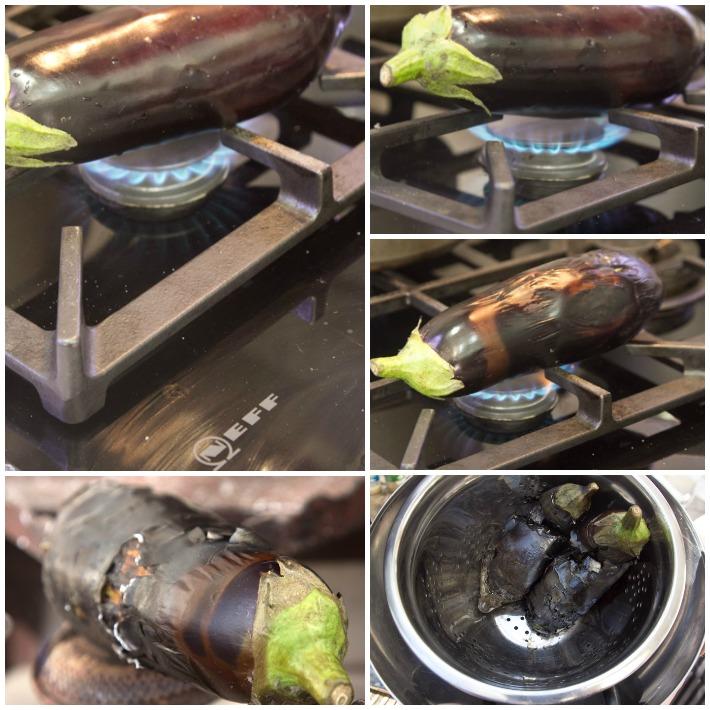 μελιτζανοσαλάτα με ταχίνι και καπνιστη γευση