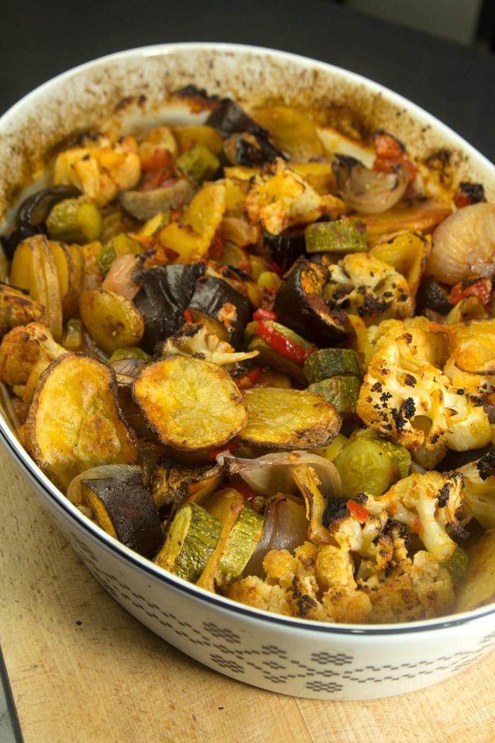 ψήσιμο λαχανικών σε μπριάμ