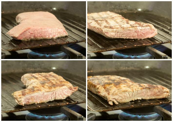 τέλειωμα σουβινταρισμένου κρέατος στο τηγάνι