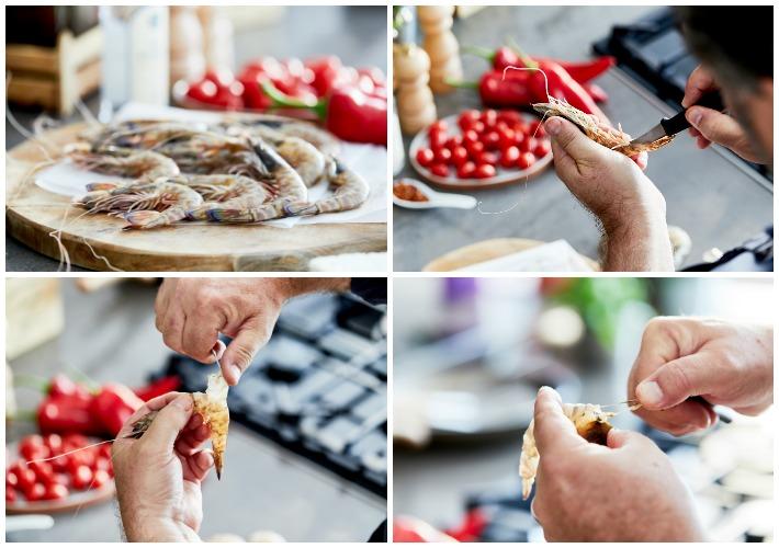 Γαρίδες Σαγανάκι με Ούζο