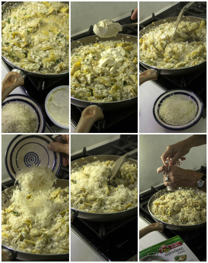 Ιταλικό ριζότο με καρδιές αγκινάρας