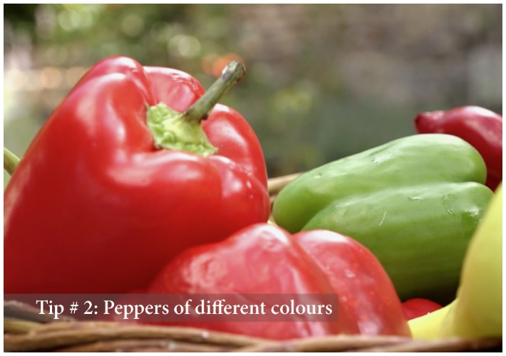 Greek Salad - Tip 2 peppers