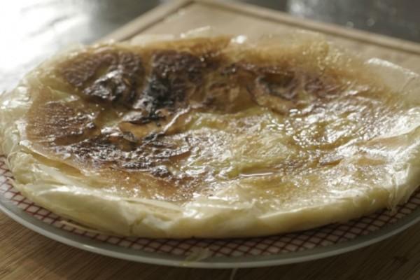 τραχανοπιτα μετσοβιτικη ψητη στο τηγανι