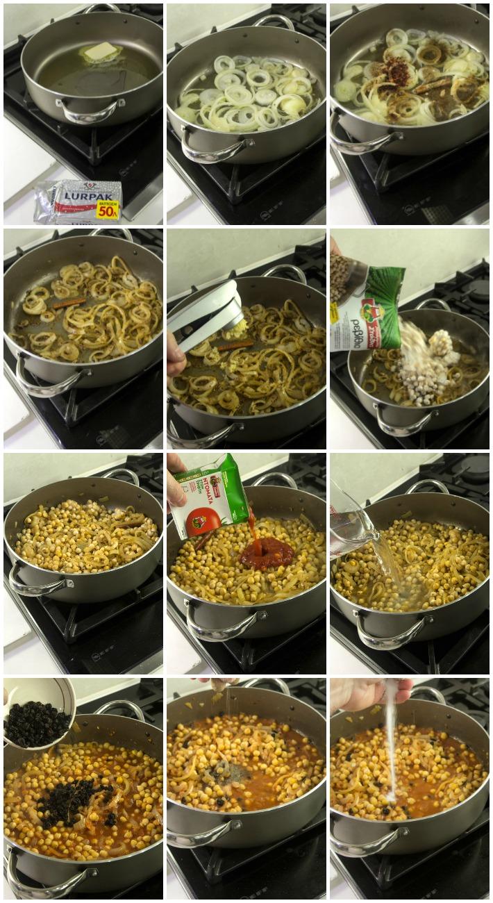ΤΑΖΙΝ κοτόπουλο ρεβίθια σε κουσκούς