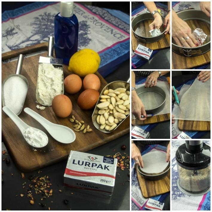 Περσικό κέικ αμυγδάλου με ροδόνερο και κρημ τσηζ φροστινγκ