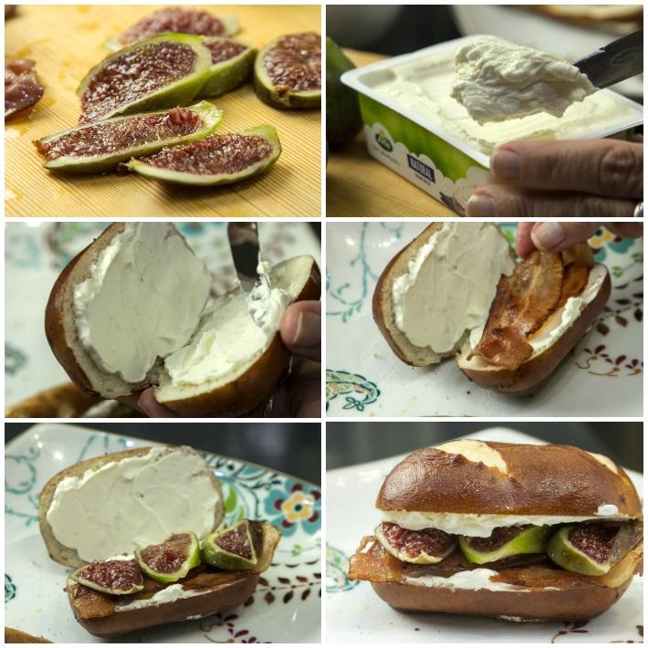 σαντουιτς καλοκαιρινά με τυρί κρέμας Cream Cheese