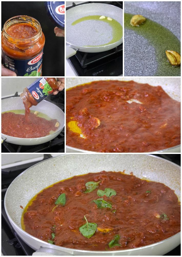 μακαρονάδα με μελιτζάνες και ντομάτα αλα Νορμα
