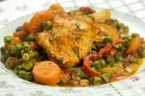 Κοτόπουλο με αρακά (Video)