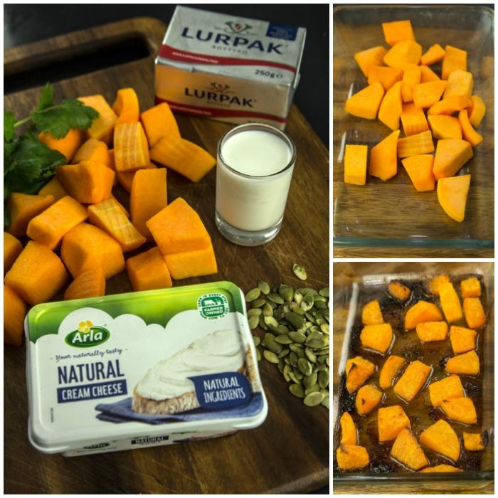 πουρές κολοκύθας με Arla Natural crem cheese