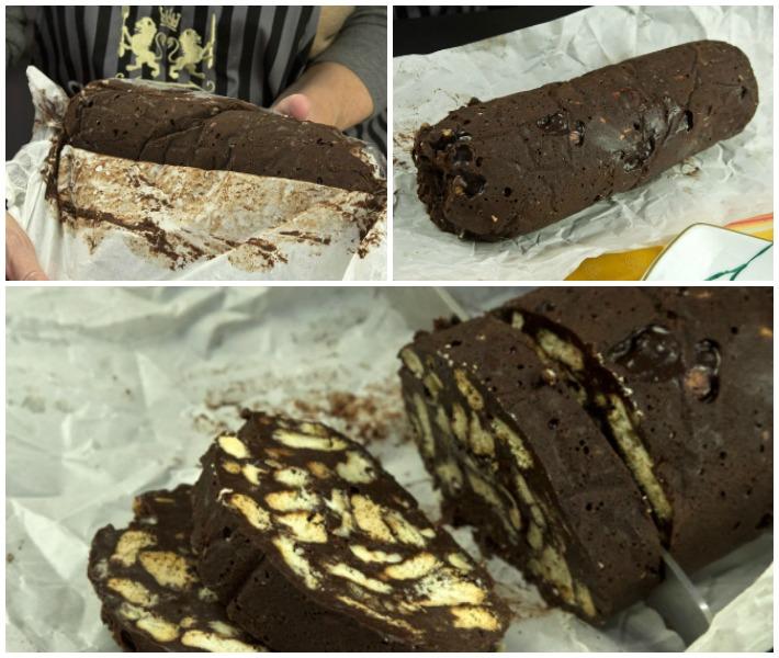 κορμός σοκολάτας- μωσαϊκό