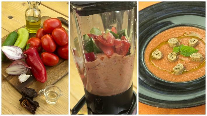 Γκασπάτσο κρύα σούπα ντομάτας για το καλοκαίρι
