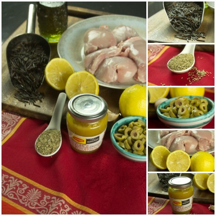 λεμονάτο κοτόπουλο κατσαρόλας με ρίγανη και ελιές